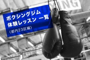 関東のボクシングジム 体験レッスン一覧(都内23区編)